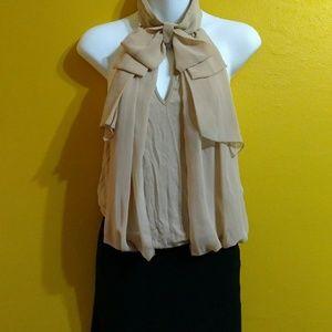 Slinky Bisou Bisou skirted scarf tie club dress 10